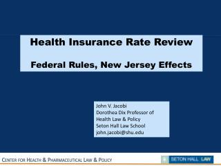 Center for Health & Pharmaceutical Law & Policy
