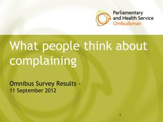 What people think about complaining