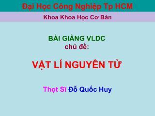 Đại Học Công Nghiệp Tp HCM