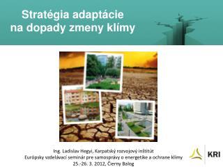 Stratégia adaptácie  na dopady zmeny klímy