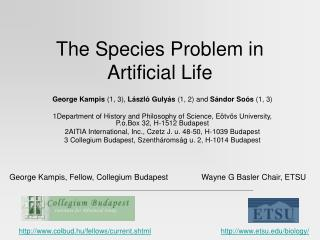 The Species Problem in Artificial Life