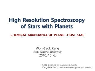 High Resolution Spectroscopy of Stars with Planets