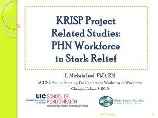 KRISP Project  Related Studies:  PHN Workforce  in Stark Relief