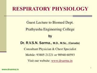 Guest Lecture to Biomed Dept. Prathyusha Engineering College by