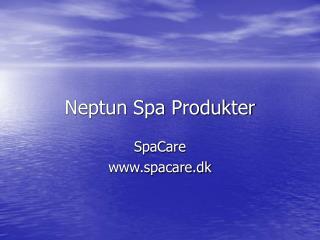 Neptun Spa Produkter