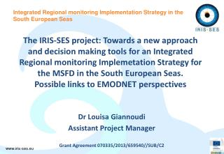 Integrated Regional monitoring Implementation Strategy in the South European Seas