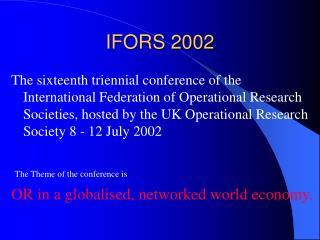 IFORS 2002