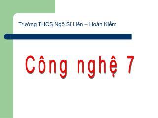Trường THCS Ngô Sĩ Liên – Hoàn Kiếm