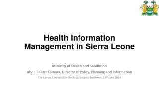 Health Information Management in Sierra Leone