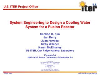 System Engineering to Design a Cooling Water System for a Fusion Reactor
