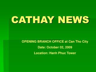 CATHAY NEWS