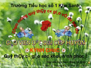 Ch�o m�ng qu� th�y c� gi�o v� d� h�i thi