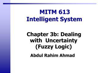 MITM 613 Intelligent System