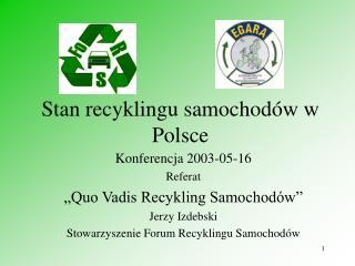 Stan recyklingu samochodów w Polsce