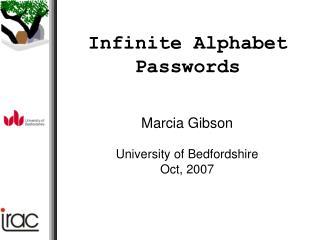 Infinite Alphabet Passwords