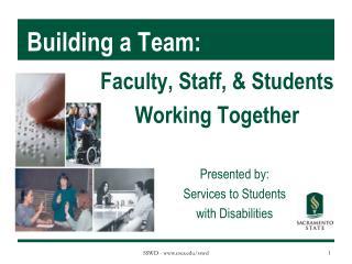 Building a Team: