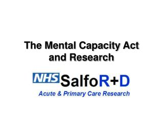 The Mental Capacity Act and Research