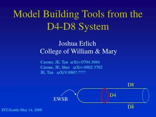 Model Building Tools from the D4-D8 System