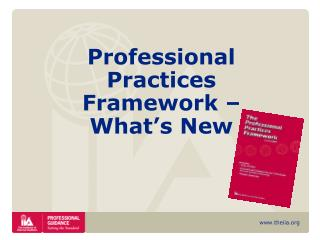 Professional Practices Framework – What's New