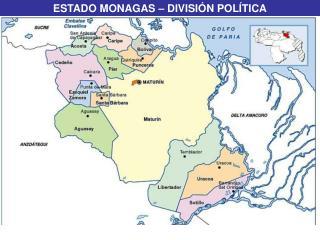 ESTADO MONAGAS – DIVISIÓN POLÍTICA