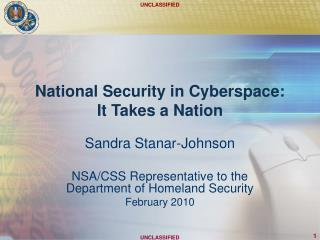National Security in Cyberspace: It Takes a Nation
