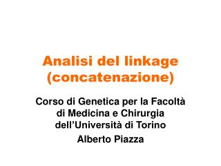 Analisi del linkage (concatenazione)