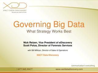 Governing Big Data What Strategy Works Best
