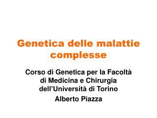 Genetica delle malattie complesse