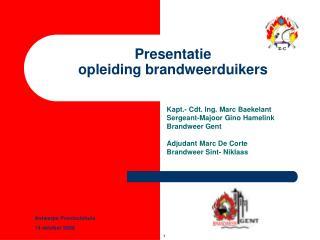 Presentatie  opleiding brandweerduikers