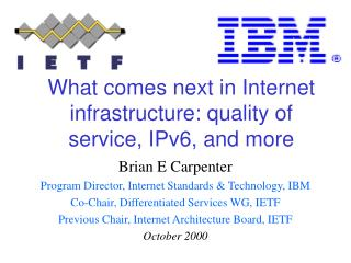 What comes next in Internet infrastructure: quality of service, IPv6, and more