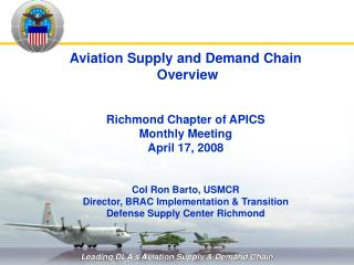 Aviation Supply and Demand Chain  Overview