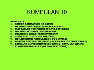 KUMPULAN 10