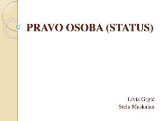 PRAVO OSOBA (STATUS)