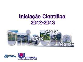 Iniciação Científica  2012-2013