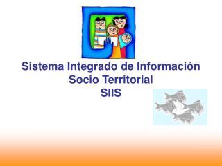 Sistema Integrado de Información Socio Territorial SIIS
