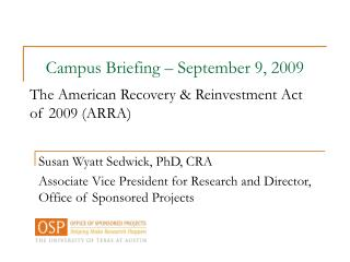 Susan Wyatt Sedwick, PhD, CRA