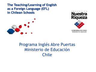 Programa Inglés Abre Puertas Ministerio de Educación  Chile