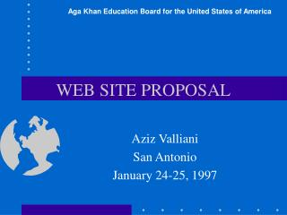 WEB SITE PROPOSAL