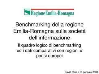 Benchmarking della regione Emilia-Romagna sulla società dell'informazione