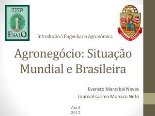 Agronegócio: Situação Mundial e Brasileira