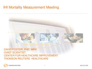 IHI Mortality Measurement Meeting