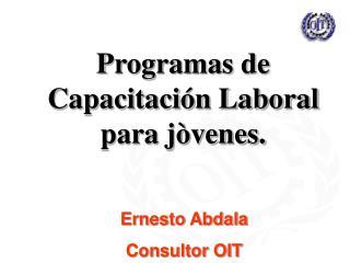 Programas de Capacitación Laboral para jòvenes.