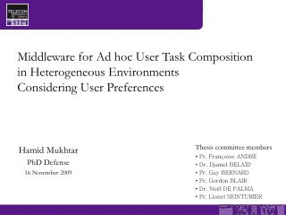 Hamid Mukhtar PhD Defense 16 November 2009