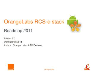 OrangeLabs RCS-e stack