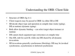Understanding the ORB: Client Side