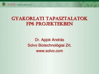 Gyakorlati tapasztalatok FP6 projektekben