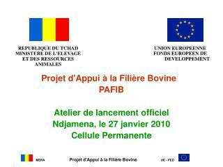 Projet d'Appui à la Filière Bovine PAFIB Atelier de lancement officiel