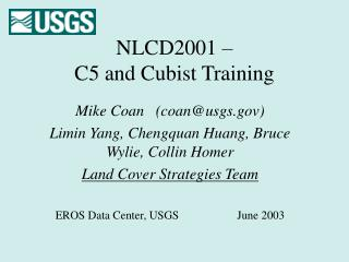 NLCD2001 –  C5 and Cubist Training