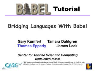 Bridging Languages With Babel