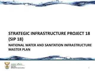 National water and sanitation infrastructure master plan
